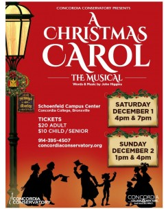Annual Holiday Community Musical - A Christmas Carol  Saturday, December 1  7:00pm  Gala & Show